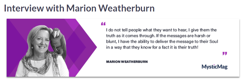 MysticMag interviews Marion Weatherburn