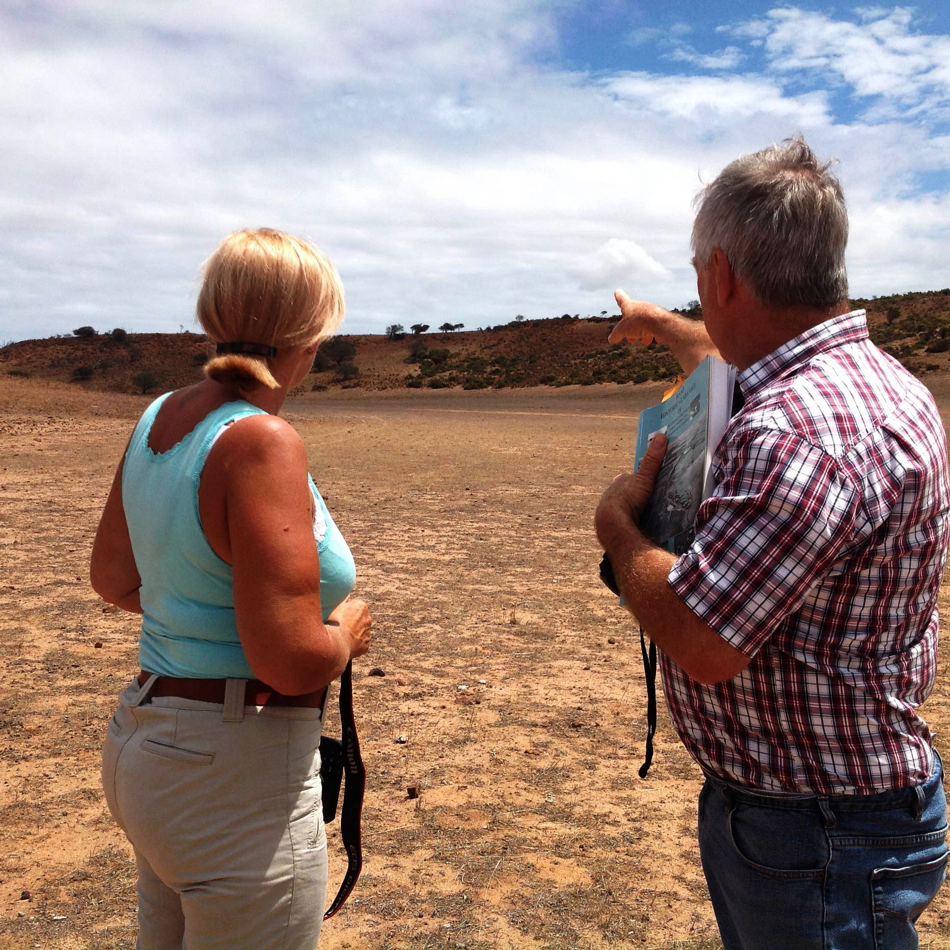 Robert and I at the crash site in Geraldton