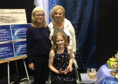 8. Beth and Chloe come to visit at the Expo